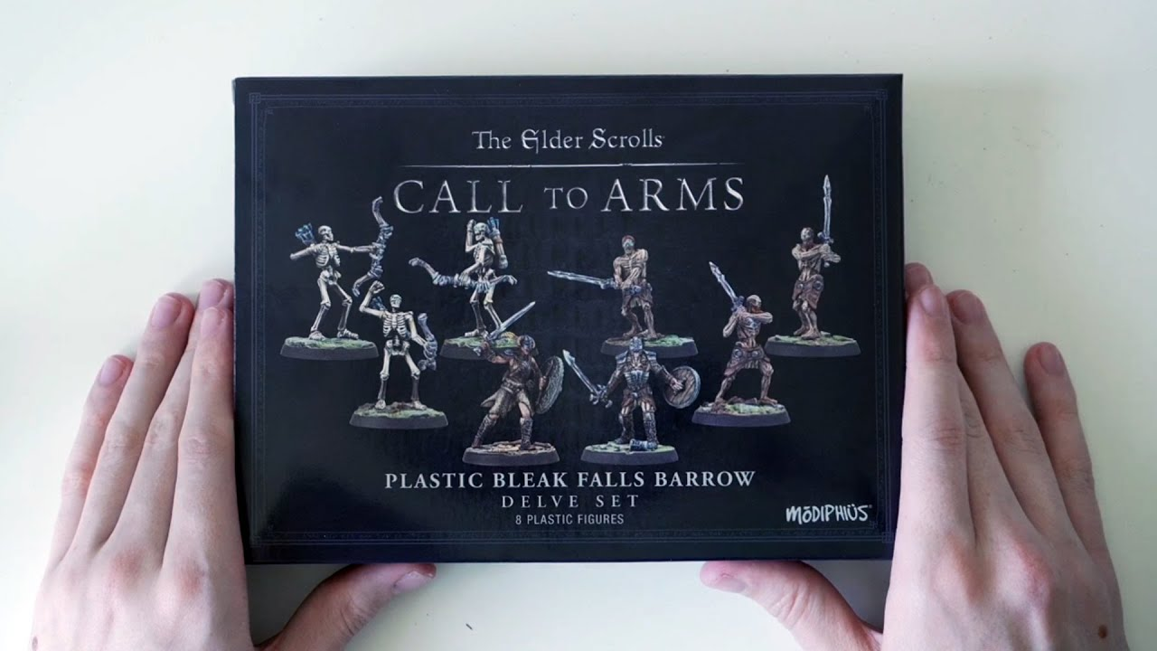 The Elder Scrolls Call to Arms Minitures - Skyrim Bleak Falls Barrow Delve (ASMR Unboxing)