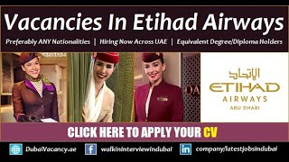 How to find jobs in Etihad Airways Airlines Group