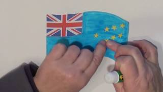 Learn geography for kids How to draw a flag Tuvalu