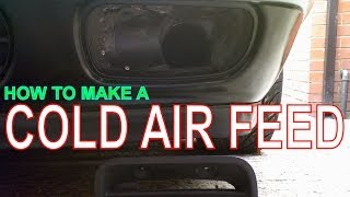 Cold Air Intake. How to make a Cold Air Feed for your Car.