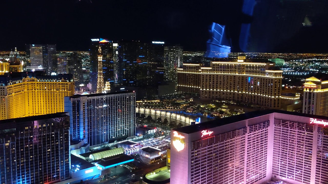 Bellagio Water Dance from the top of Linq High Roller