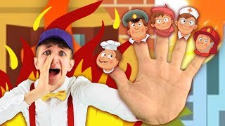 Finger Family Song about Jobs for Kids - Super Simple Nursery Rhymes – Learn Professions Part 1