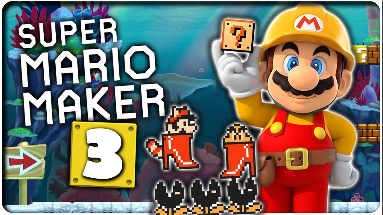 Let s Play SUPER MARIO MAKER Part 3: Unterwasser-Set + 10-Mario-Herausforderung Teil 3 - YouTube