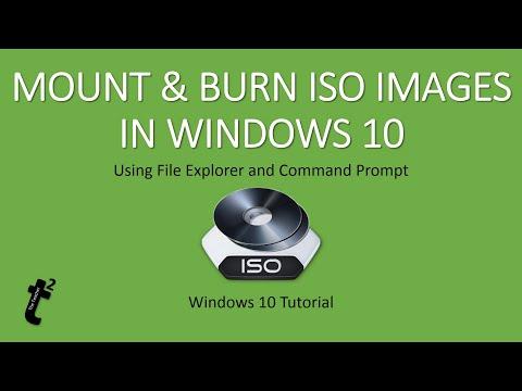 Burn iso image in windows 10