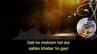 vlc record 2017 06 01 02h57m42s Aajkal Tere Mere Pyar Ke karaoke with synced lyrics mp4