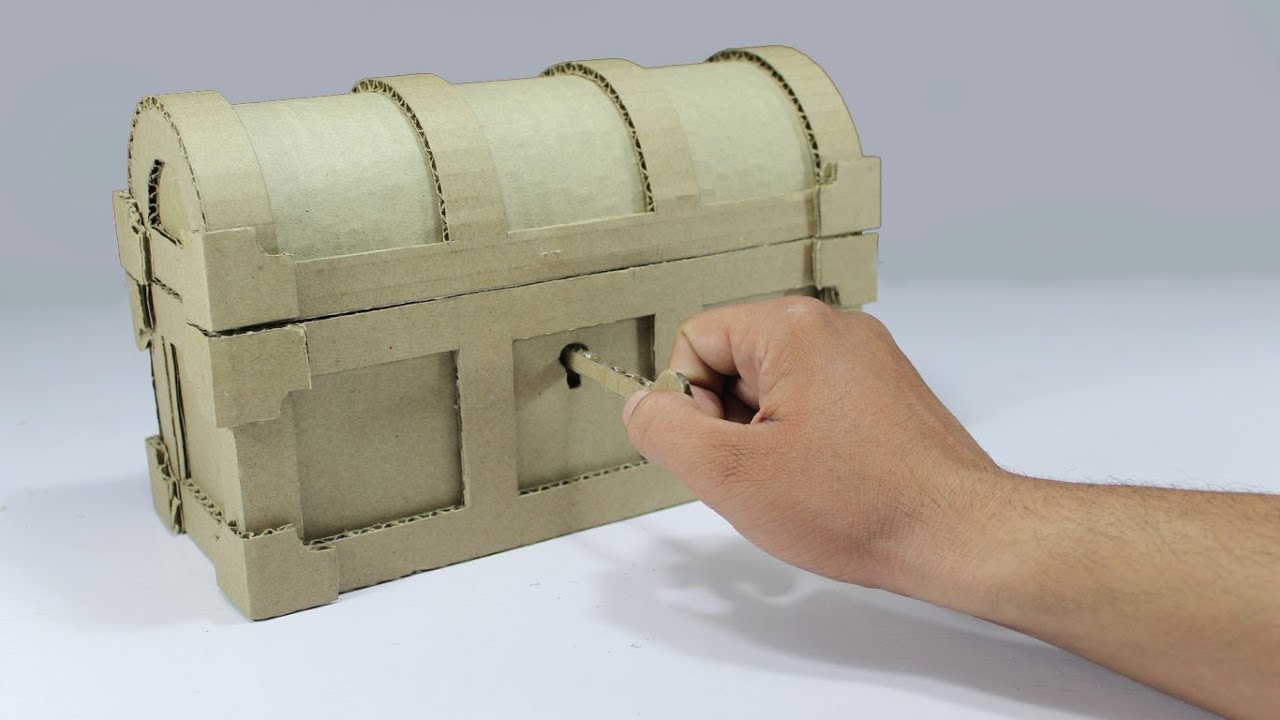 How To Make A Treasure Chest From Cardboard Diy
