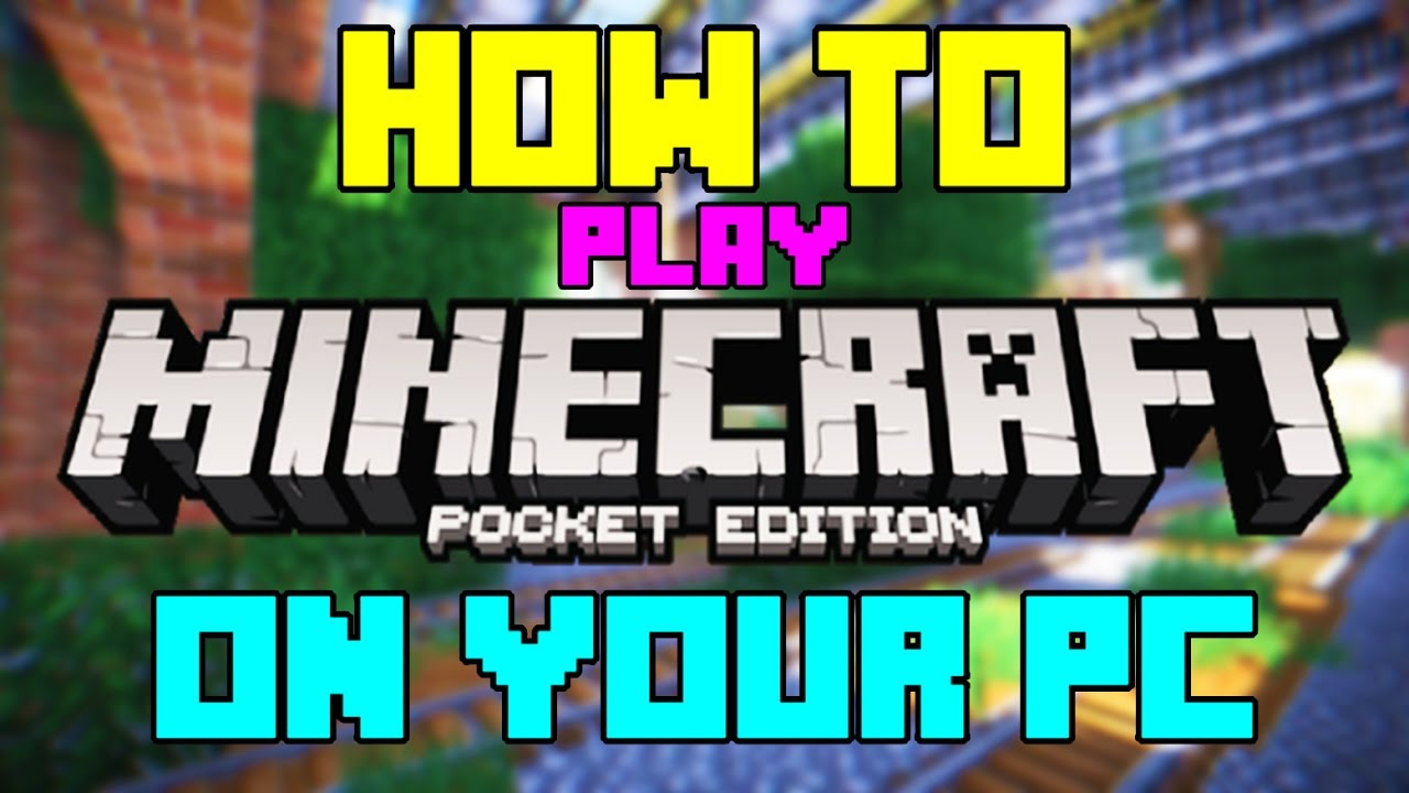How To Play Minecraft PE On Your PC UPDATED YouTube - Minecraft spielstand zurucksetzen