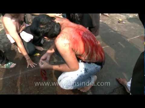 Muharram lashing by the Shias