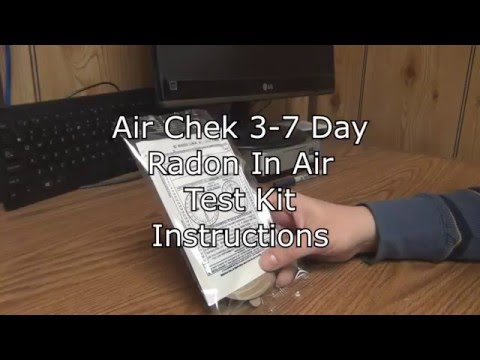 Air Chek 3-7 Day Radon in Air Test Kit Instructions