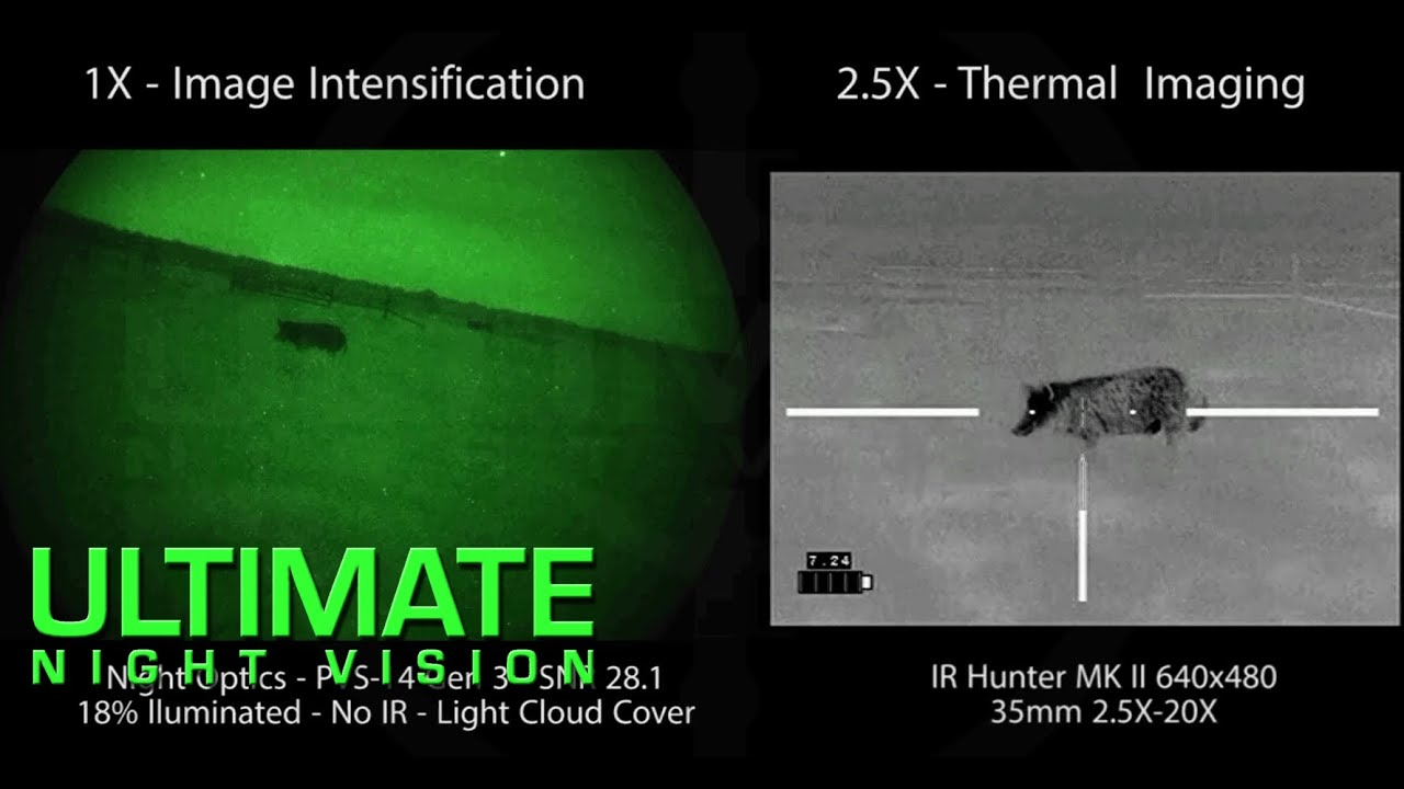 Pvs 14 vs thermal weapon sight for hog hunting youtube for Thermal watches