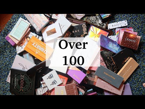 100+ EYESHADOW PALETTES || EYESHADOW PALETTE DECLUTTER || MAP BEAUTY