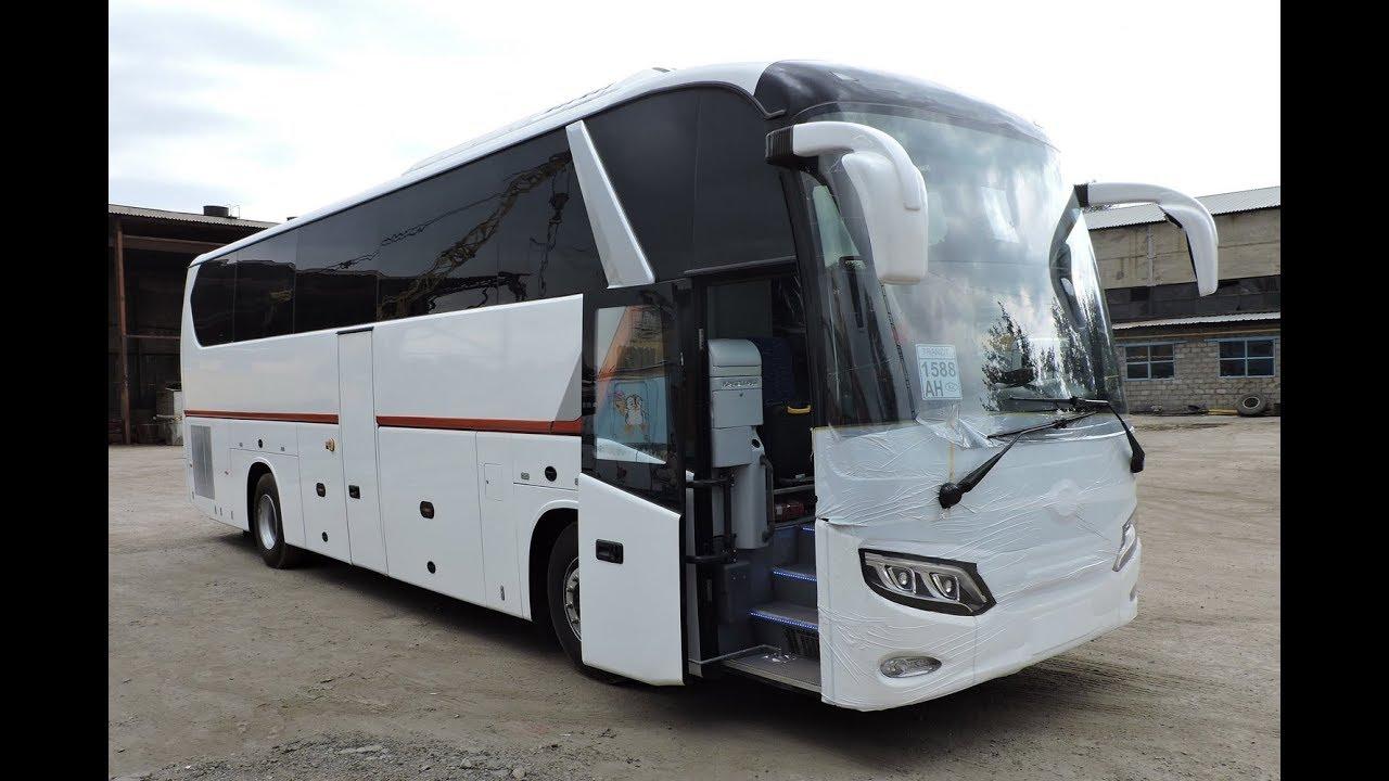 Туристический автобус King Long XMQ6129Y, 49+1+1, 2 двери, Китай - самый подробный видеообзор