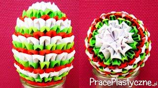 Jak zrobić jajko? (origami modułowe)