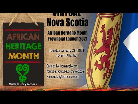African Heritage Month - Virtual Provincial Launch for Nova Scotia
