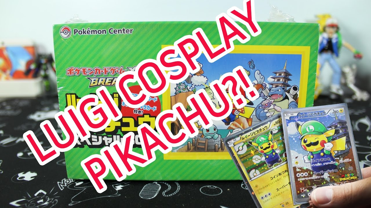 Pokemon Cards Opening A Pikachu Luigi Collection Box Cosplay