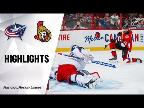 NHL Highlights   Blue Jackets @ Senators 12/14/19