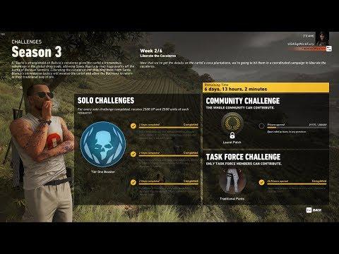 Ghost Recon Wildlands Season 3 Week 2 Task Force Challenge Complete Walk Through