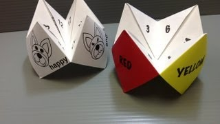 Free Origami Paper - Print Your Own! - Cootie Catcher Or Fortune Teller