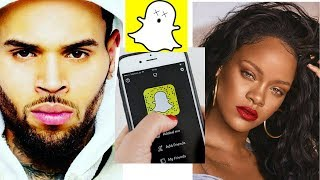 CHRIS BROWN Responds to SNAP CHAT making fun of his past with RIHANNA!