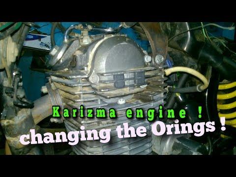 Changing the O-ring Karizma engine