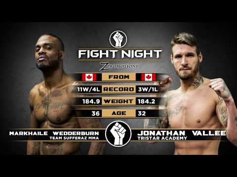"Fight Night: Medicine Hat - Jo Vallee vs Markhaile ""Showtime"" Wedderburn"