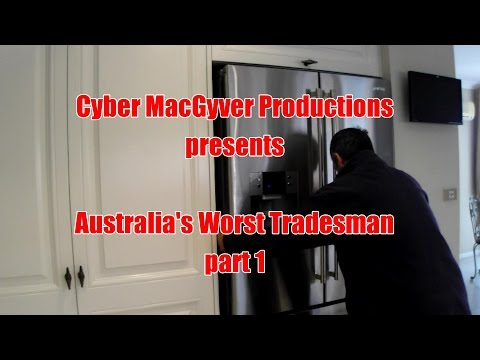 Who runs CABLES thru WATER pipes? Australia's Worst Tradesman (part 1)