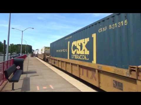 CSX Intermodal Train in Quantico, VA
