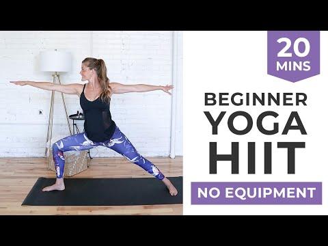 beginner hiit cardio yoga workout  youtube