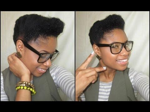 natural hair retro updo tutorial