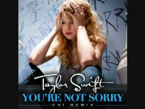 You're Not Sorry by Taylor Swift CSI remix