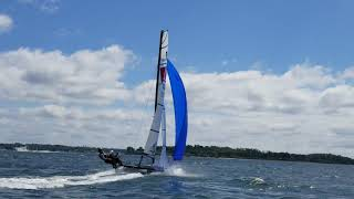 Cover images Nacra 15 pitchpole.