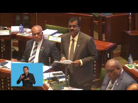 Fijian Minister for Local Government gives an update on the new Laqere Market