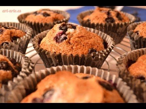 muffins-de-blueberry-integrales-/-receta-de-pasteles-/-cómo-hacer-muffins
