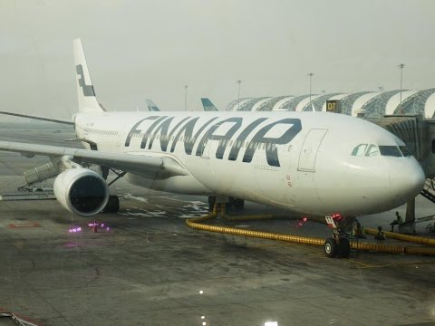 Finnair Airbus A330-300 Business Class Bangkok to Helsinki (powerful takeoff!)