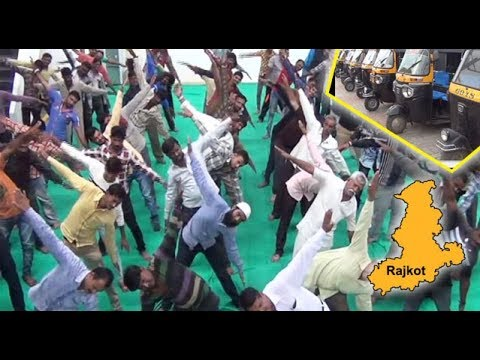 Labor Union of Rajkot organised Yoga classes to rehabilitate local rickshaw drivers