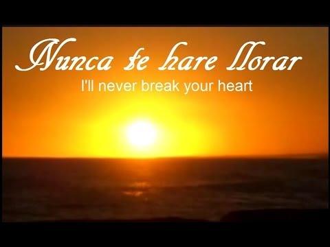 I´LL NEVER BREAK YOUR HEART (SPANISH)
