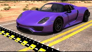 Spike Strip High Speed Testing #27 - BeamNG Drive