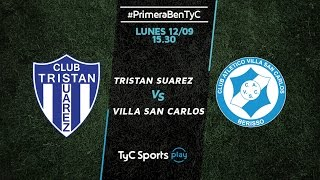 Tristan Suarez vs Villa San Carlos full match