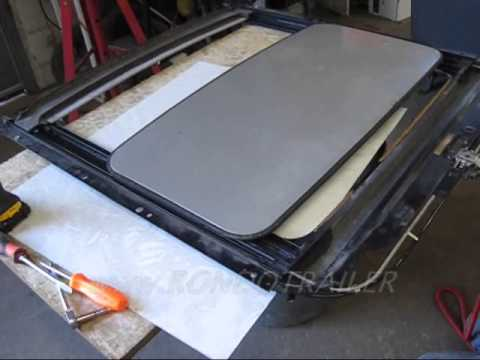 Jaguar sunroof out of car operating - YouTube