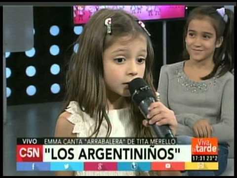 C5N -  VIVA LA TARDE: PRESENTACION DE ARGENTINIÑOS  18- 4- 15