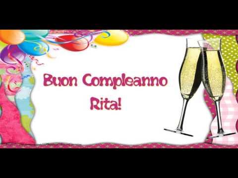 Happy Birthday Rita Buon Compleanno Rita Youtube