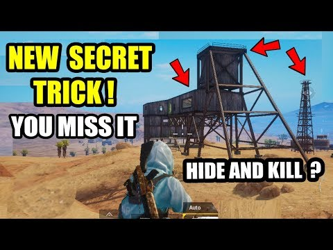 PUBG TOP SECRET PLACE HIDE In OPEN Area's & Kill Enemies   Play Like a Pro Player