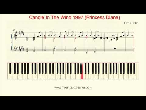 "How To Play Piano:  Elton John ""Candle In The Wind"" 1997 Princess Diana By Ramin Yousefi"