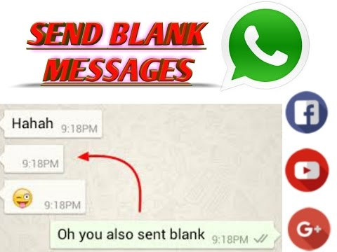 HOW TO SEND BLANK MESSAGE ON WHATSAPP || EMPTY!