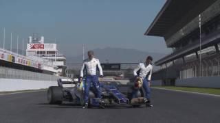 Sauber F1 Team 2017 C36 Ferrari Pilots | AutoMotoTV