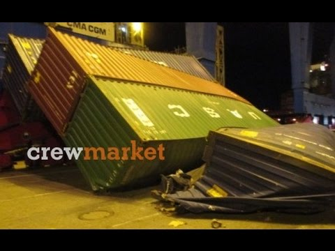 Fallen containers - Containership Accident in Port of Hamburg