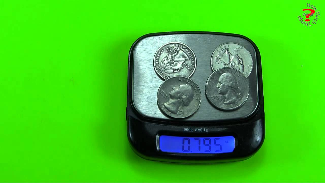 How Much Does A Quarter Weigh In Ounces June 2020