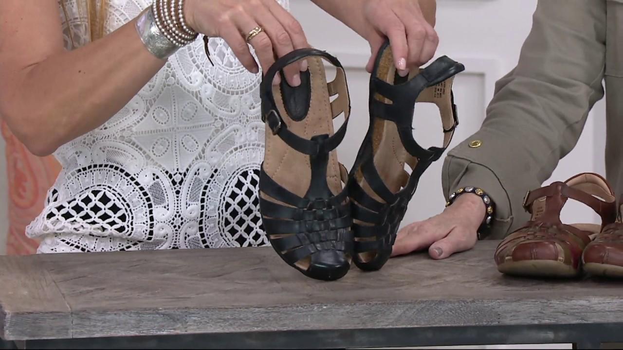 2029e9f1c0e9 Earth Leather Fisherman Sandals - Teagan on QVC - YouTube