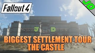 Fallout 4 : Spectacle Island Settlement tour ( Biggest settlement in Fallout 4 ) The Castle