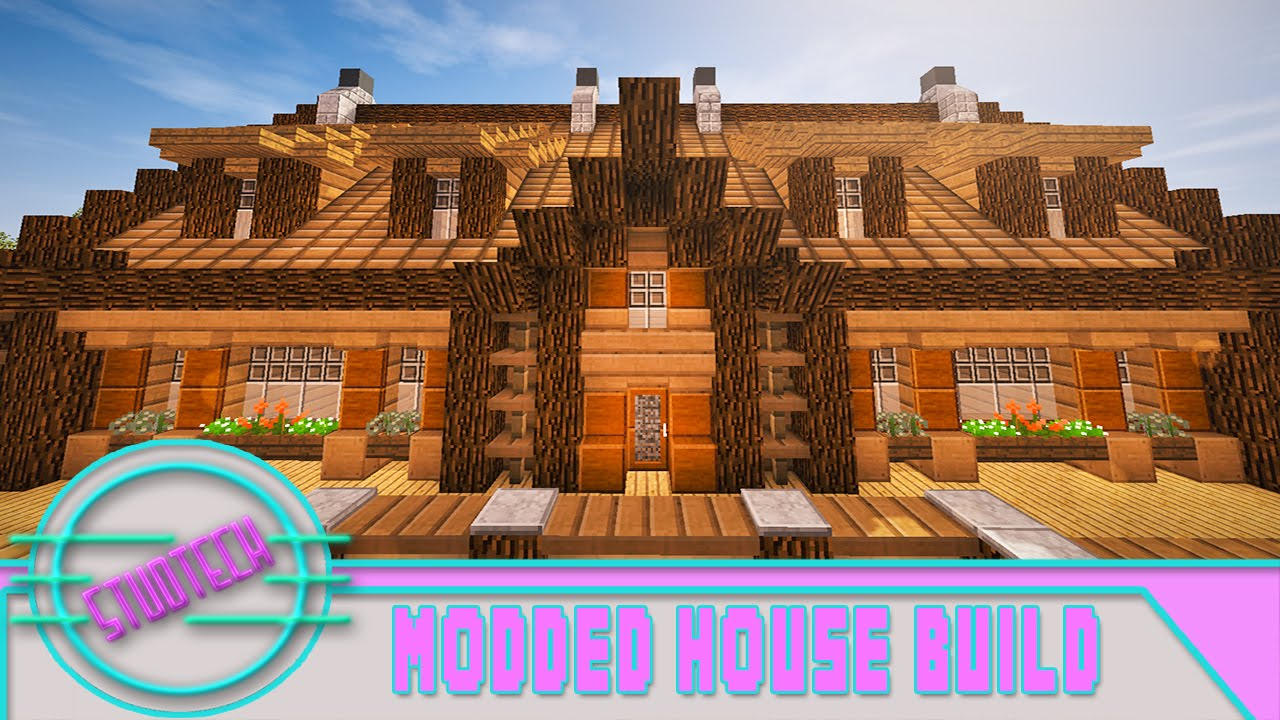 Minecraft How To Build A House Roof Design StudTech Ep 9